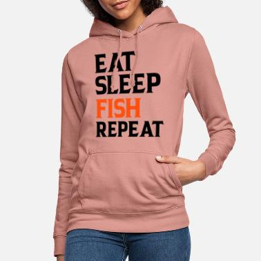 Hameçon Eat Sleep Fish Repeat - Sweat à capuche Femme