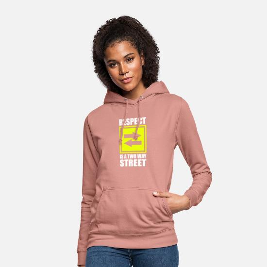 Rainbow Hoodies & Sweatshirts - Respect Acceptance Tolerance Recognition Validity - Women's Hoodie dusky rose