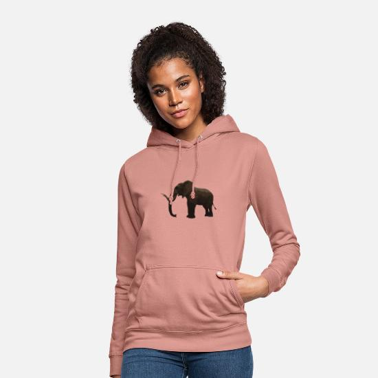 Elephant Hoodies & Sweatshirts - elephant - Women's Hoodie dusky rose