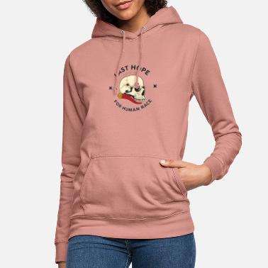 Skull and Red Horn - Women's Hoodie