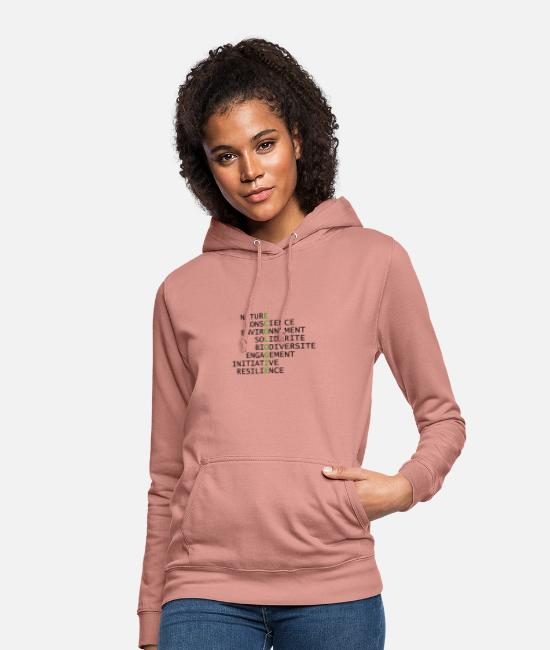 Nature Hoodies & Sweatshirts - Ecology is at the center - Women's Hoodie dusky rose