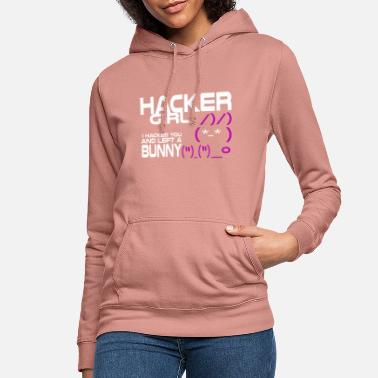 Hacker Girl Bunny Gift IT Coding Gamer - Sweat à capuche Femme