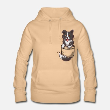 Pocket Cute Border Collie Dog - Women's Hoodie
