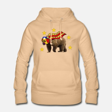 Cool superhero bear overdrawn with cape - Women's Hoodie