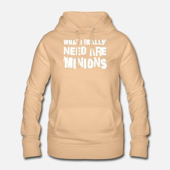 Need Hoodies & Sweatshirts - What I Really Need Are Minions T Shirt - Women's Hoodie peach