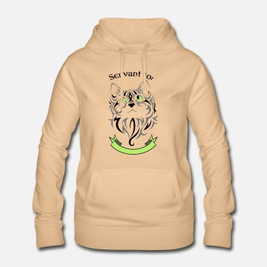 Cat master, servant, kitty, tabby, cat lady - Women's Hoodie