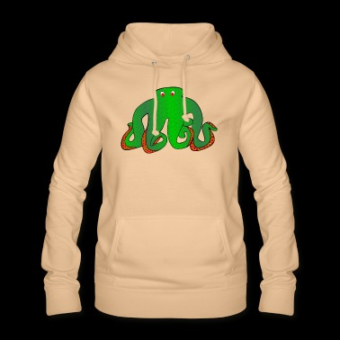 Green tentacles with long feelers - Women's Hoodie