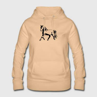 Proud, gathered horse in trot - Women's Hoodie