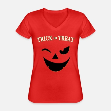 Or Halloween - Trick or Treat - Trick or Treat - T-shirt classique col V Femme