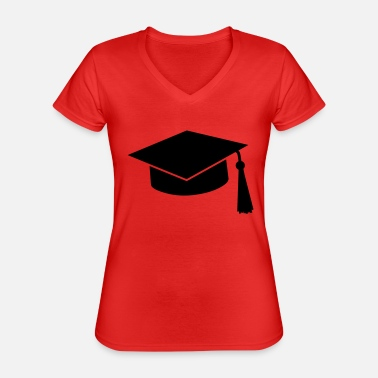Master graduation hat - Classic Women's V-Neck T-Shirt