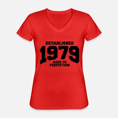 Established aged to perfection established 1979 (fr) - T-shirt classique col V Femme