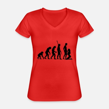 Job evolution_sucks_a_1c - T-shirt classique col V Femme