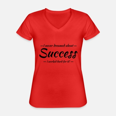 Success Success - Klassisk T-shirt med V-ringning dam