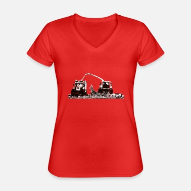 Youth Corn Chopper Corn Chopper Chop Farmer - Classic Women's V-Neck T-Shirt