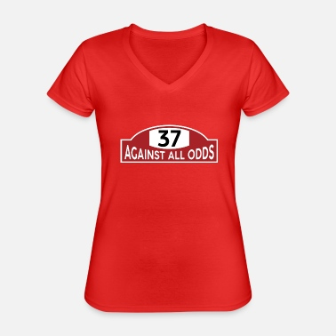 Carlo Against All Odds / Number 37 - Maglietta da donna classica con scollo a V