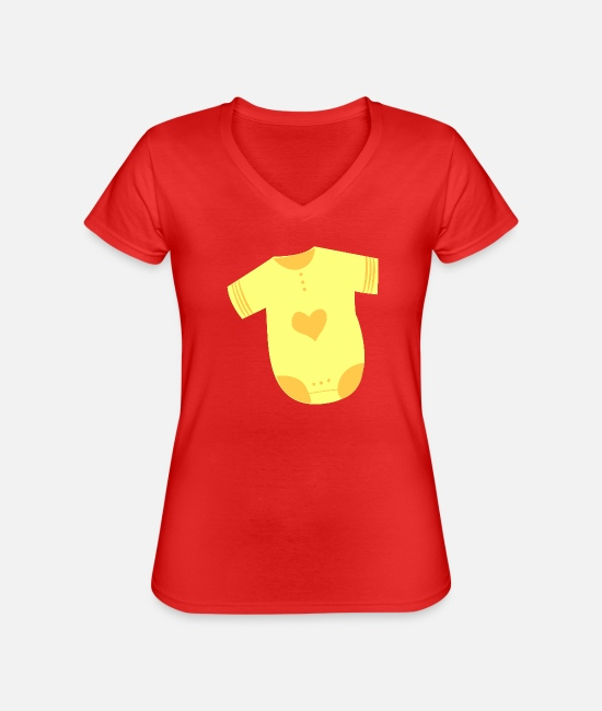 Symbols & Shapes T-Shirts - Baby underwear symbol icon shape - Classic Women's V-Neck T-Shirt red