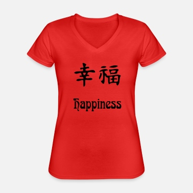 Happiness happiness - T-shirt classique col V Femme