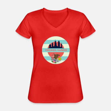 Chicago Bears chicago - Classic Women's V-Neck T-Shirt
