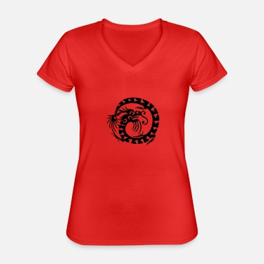 Chinese Chinese dragon - Classic Women's V-Neck T-Shirt