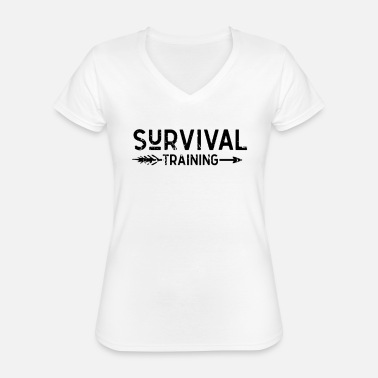 Gift Overleef Bushcraft Wilderness Survival Prepper - Klassiek vrouwen T-shirt met V-hals