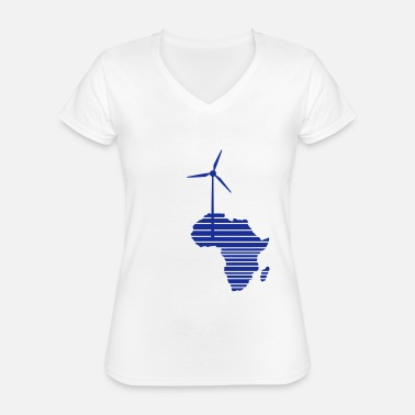 Renewable Wind wheel for renewable energies - Classic Women's V-Neck T-Shirt