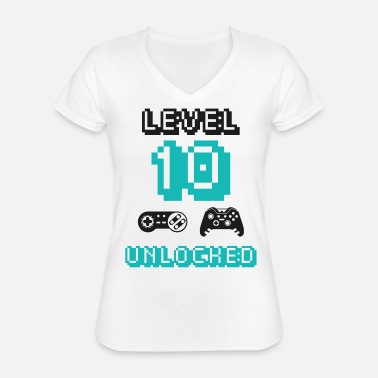 Unlocked Level 10 unlocked - Classic Women's V-Neck T-Shirt