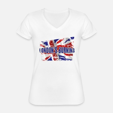 Clash London's burning - Classic Women's V-Neck T-Shirt