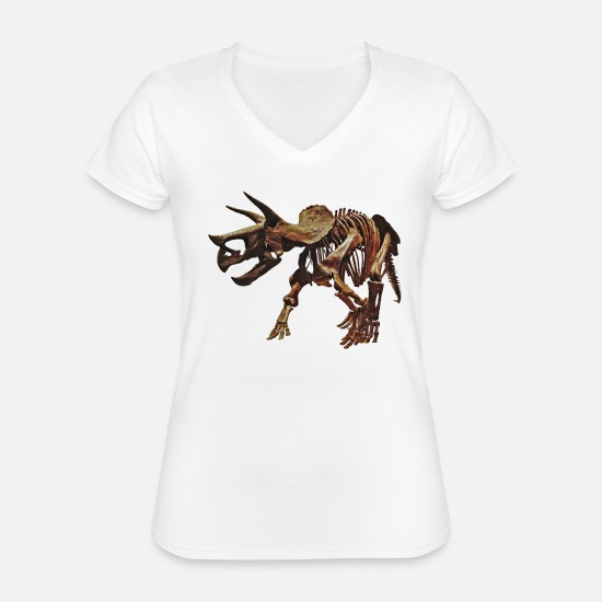 Dinosaurs T-Shirts - Daily dose of dinosaurs - Classic Women's V-Neck T-Shirt white