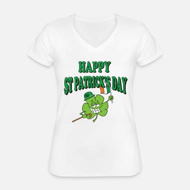 Day Happy St Patrick's Day - Classic Women's V-Neck T-Shirt