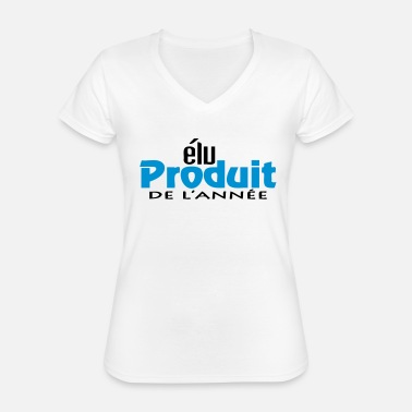 Production Year Product of the year (2c, 1c) - Classic Women's V-Neck T-Shirt