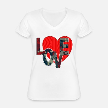 Symbol Heart - Classic Women's V-Neck T-Shirt