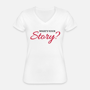 Story What's your story? - T-shirt classique col V Femme