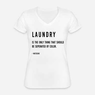 Geek (laundry_color2) - Classic Women's V-Neck T-Shirt