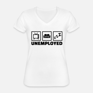 Unemployed Unemployed - Classic Women's V-Neck T-Shirt