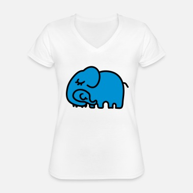 Mother Child Mother - child elephant - Classic Women's V-Neck T-Shirt