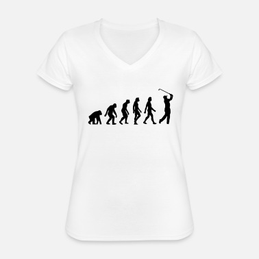 Golf The Evolution of Golf - Classic Women's V-Neck T-Shirt