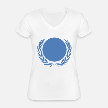 Nations Unies Nations Unies - pavillon - drapeau - T-shirt classique col V Femme