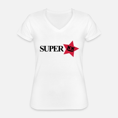 Superstar superstar - Klassisk dame T-shirt med V-udskæring