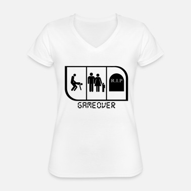Game Over GAME OVER - T-shirt classique col V Femme
