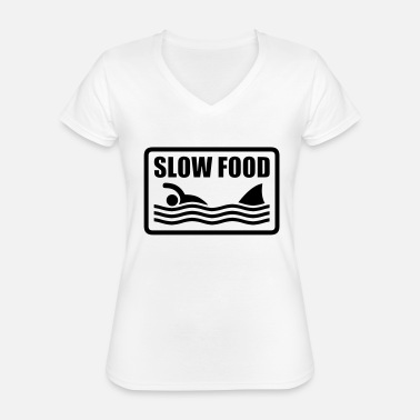 Cook slow food - Classic Women's V-Neck T-Shirt