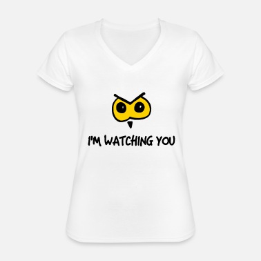 State owl watching you - Classic Women's V-Neck T-Shirt