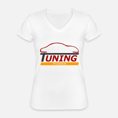 Tuning tuning - T-shirt classique col V Femme