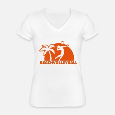 Beachvolleyball Beachvolleyball - Klassiek vrouwen T-shirt met V-hals
