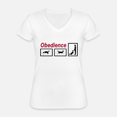 Obedience Obedience - Classic Women's V-Neck T-Shirt