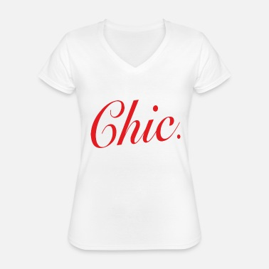 Chic Chic - Classic Women's V-Neck T-Shirt