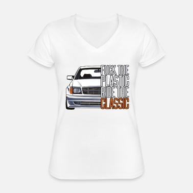 Classic Car ftp style retro car classic silhouette - Classic Women's V-Neck T-Shirt