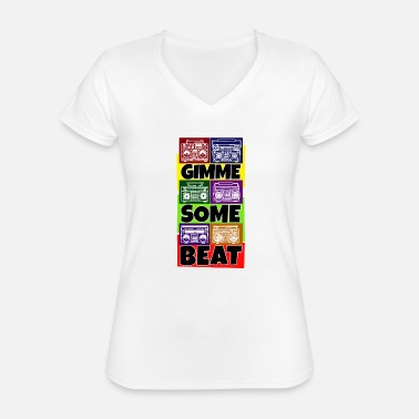 Rapper Hip Hop Beat Deutschrap Breakdance DJ Graffiti MC - Klassiek vrouwen T-shirt met V-hals