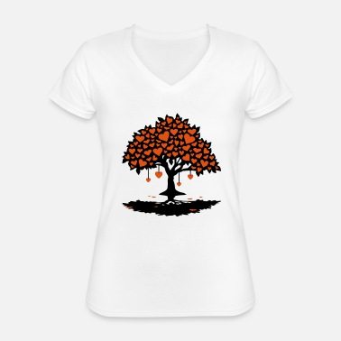 Love Collection hearttree_2f - Classic Women's V-Neck T-Shirt