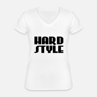 Hard Style Hard Style - T-shirt classique col V Femme