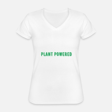 Power Plant Powered Vegan Veggie Gift - Classic Women's V-Neck T-Shirt
